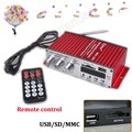 2CH output power amplifier 20WX2 RMS 12V audio Stereo Power Amplifier USB FM SD MP3 Player Remote control