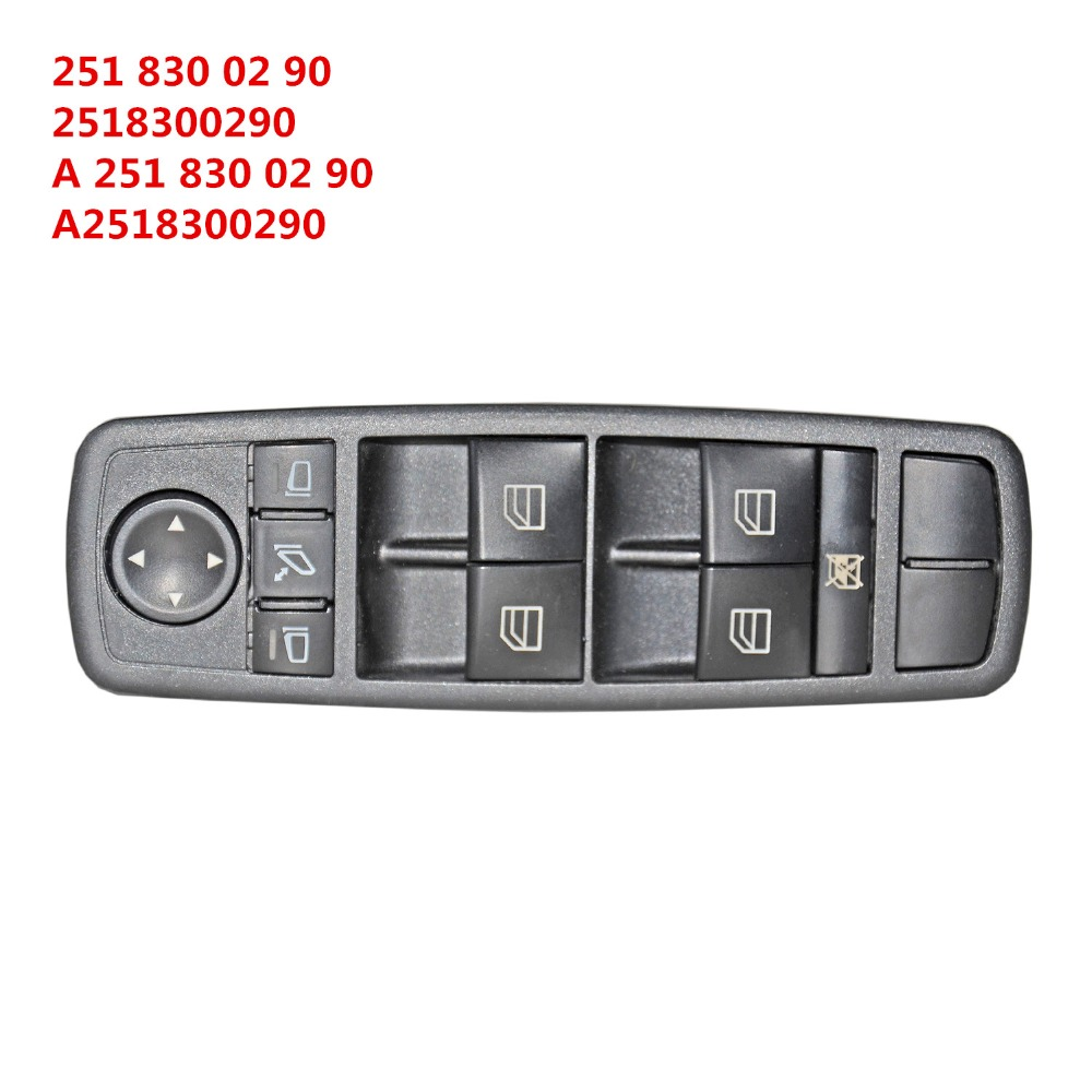 AP02 Power Window Switch 2518300290 A2518300290 A 251 830 02 <font><b>90</b></font> For Mercedes W164 GL320 GL350 GL450 ML320 ML350 ML450 image