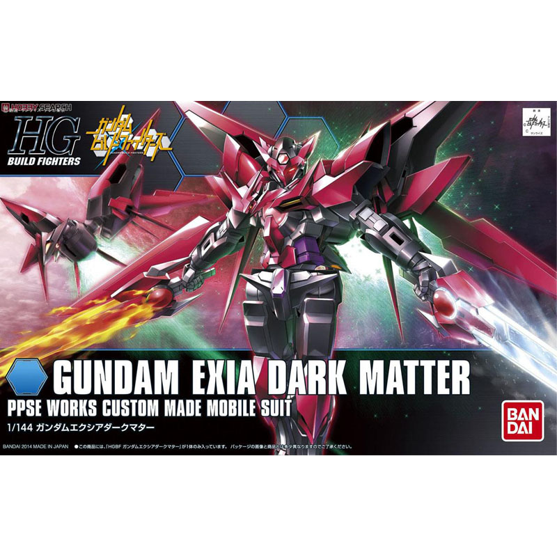1PC Bandai HGBF Build Fighters 013 1/144 Gundam Exia Dark Matter Mobile Suit model assembled Robot action figure gunpla juguetes