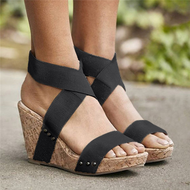70f033919a3e66 Women Wedges Platform Sandals Espadrilles 2019 Women Fashion Super High  Heels 10CM Sandals New Design Wedges