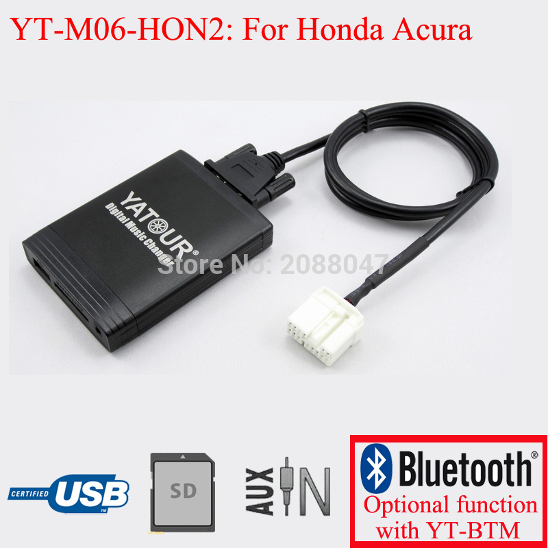 Yatour car radio USB SD AUX digital interface for Acura Honda Accord Civic CRV Odyssey Pilot car usb sd aux adapter digital music changer mp3 converter for volkswagen beetle 2009 2011 fits select oem radios