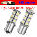 P21W 1156 strobe blink bulbs BA15S 5050 18SMD 12V LED Light Car Turn signals led Strobe Flash bulb tail light Led Bulb 12V