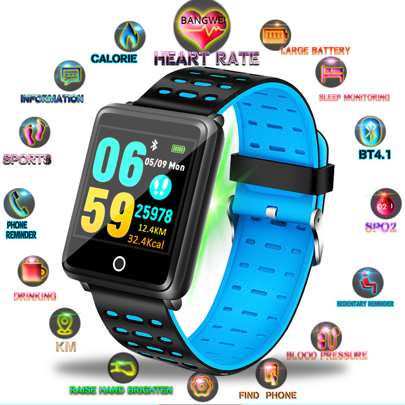 Smart WristBand Fitness Heart Rate Monitor Blood Pressure Pedometer Health Running Sports Smart Watch Men Women For IOS Android in Smart Wristbands from Consumer Electronics