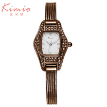 2016 Kimio Luxury Stainless Steel Quartz Watch  Rectangle Fashion Casual Ladies Analog Bracelet Wrist Watch Women's Gift K539