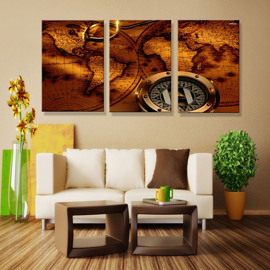 Painting Wall For Living Room Online Shop Art Paintings On The Wall World Map Canvas Painting