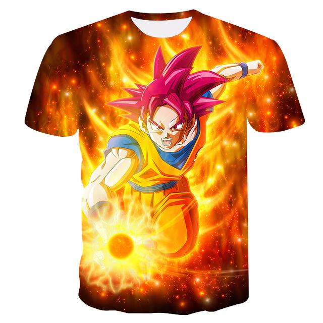 2018 New Dragon Ball Z T Shirts Men Super Saiyan Ultra Instinct Kids Goku Vegeta Printed Cartoon T-Shirt Top Tees Plus Size
