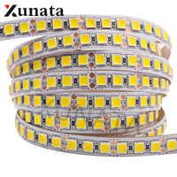 5 m/lote dc12v 5054 brilho super branco/branco quente tira de luz led 60 leds/m 120 leds/m impermeável fita flexível led tira