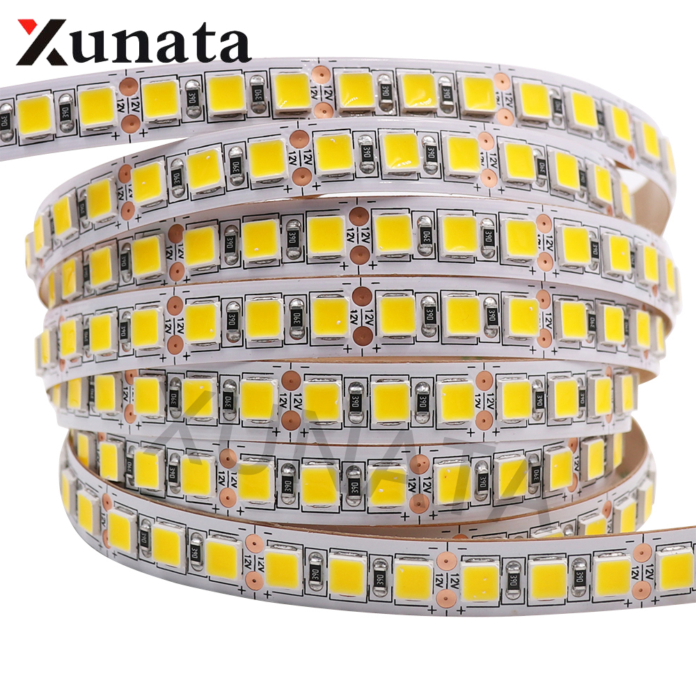5m/lot DC12V 5054 Super Brightness White/Warm White Led Light Strip 60Leds/m 120Leds/m Waterproof Flexible LED Ribbon Tape Strip