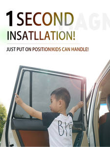 Blind Shade Window-Sunshades-Mesh Car-Curtain Magnetic Volvo for Xc40/Xc90/Xc60/.. Black