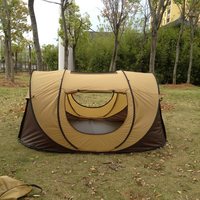 Kakhi Color Outdoor 3 4persons Automatic Speed Open Throwing Pop Up Windproof Waterproof Beach Camping Tent