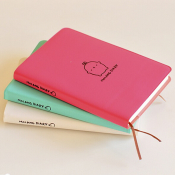Cute Kawaii Cartoon fat Rabbit Journal Notebook Diary 2019 2020 Planner Notepad for Kids Korean Stationery school supplies 1