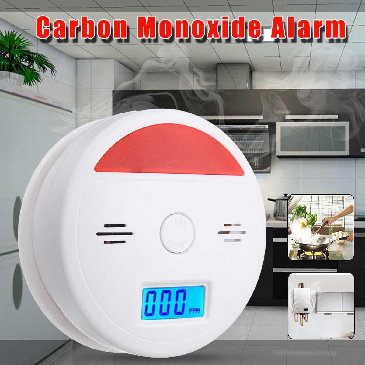 LCD CO Gas Carbon Sensor Detector Monoxide Alarm Monitor Alarma Cocina Monoxide Poisoning Alarm Detector 3 Meter 85DB Warning