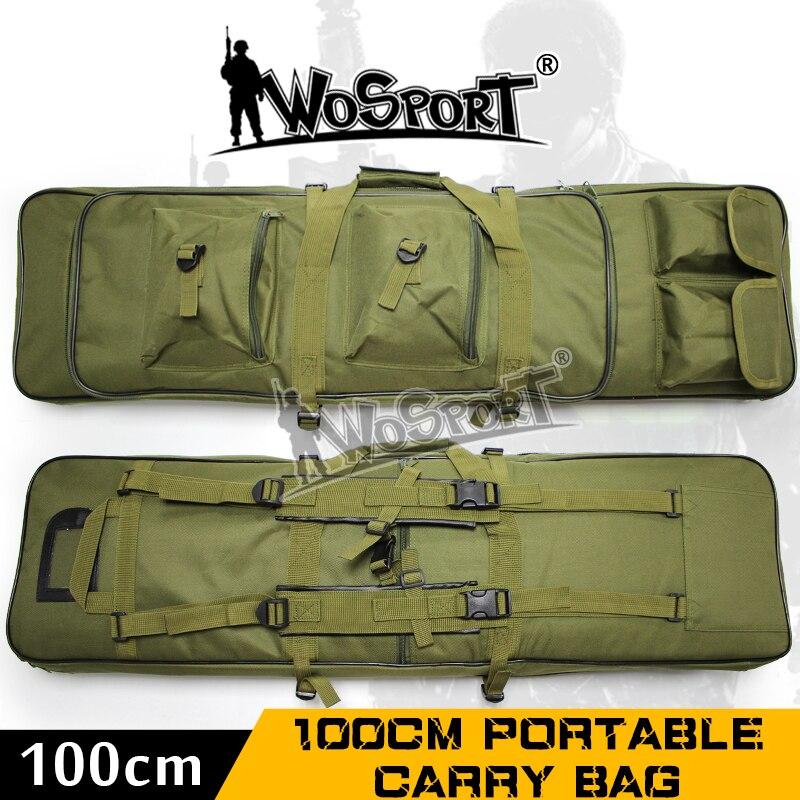 WoSporT tactique 100 CM Double poche SWAT Double grande capacité étui de transport sacs pour fusil Airsoft AEG pistolet armée jeu de guerre chasse