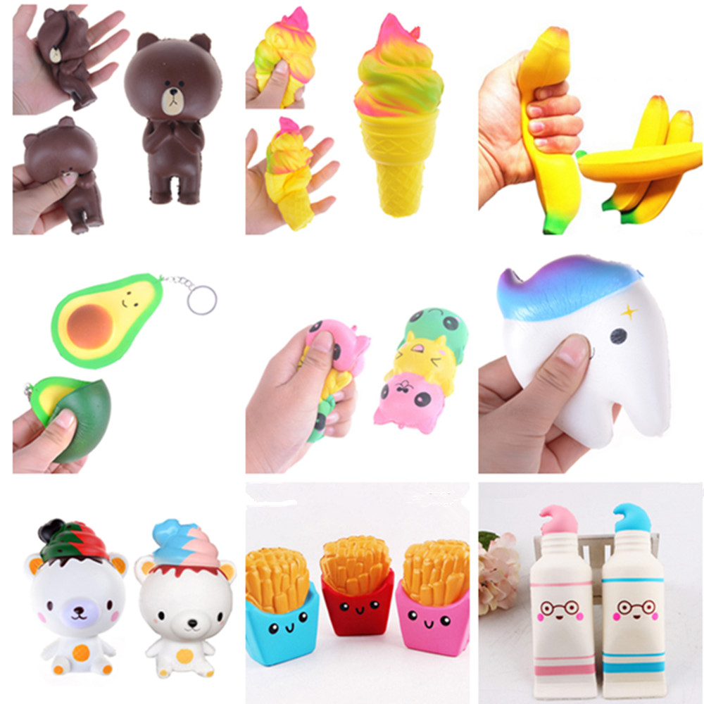 USA SELLER Squishy Toy CHICKEN COSTUME WEARING BEAR Scented Slow Rise Squeeze