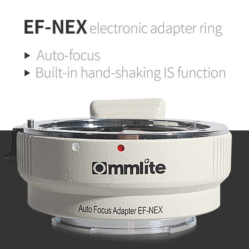 AF electronic adapter ring EF-NEX for Canon EF bayonet lens transfer to Sony NEX body support full frame camera A7/A7R white camera auto focus lens adapter ii for canon eos ef ef s to sony full frame nex a7 a7r