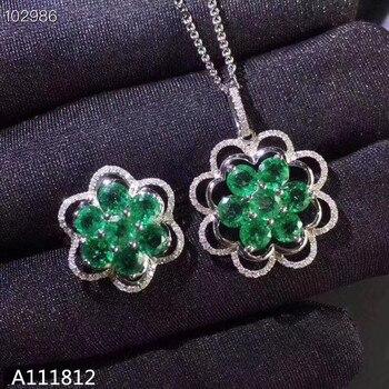 f3f1ceb34465 KJJEAXCMY boutique joyas de plata de ley 925 con incrustaciones de plata  colgante de zafiro Natural anillo collar traje de apoyo de detección