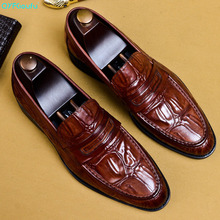 Men Shoes Formal Genuine Leather Business Casual Shoes Men Dress Office Luxury Shoes Male Breathable Oxfords US 11.5