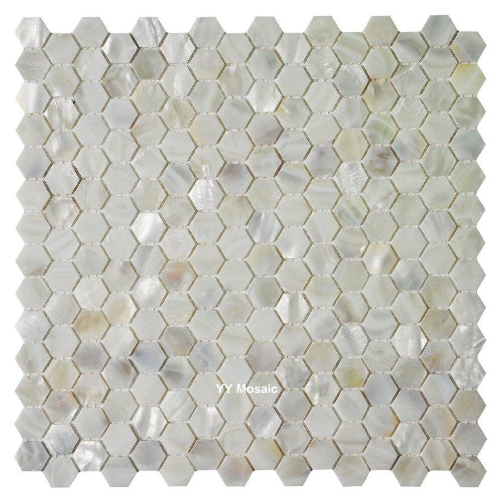 Fabrik Verkauf Hexagon Weiß Muschel Mosaik fliesen für DIY Küche ...