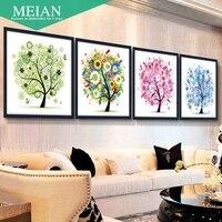 Rich Tree Painting Painting With Four Diamond Cross Stitch Embroidered Diamond Diamond Paste Painting The
