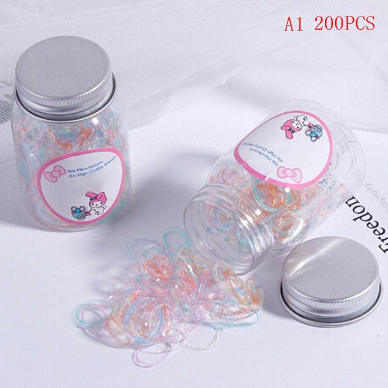 100/200 шт красочные одноразовые резинки каучуковая лента дома Еда малыш посылка офис резиновые самых лучших брендов - Цвет: 200 pcs Small size