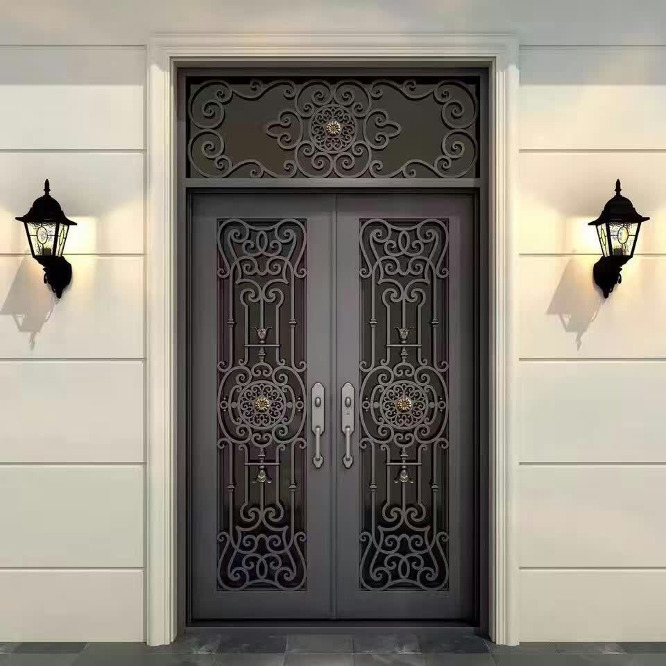 Wholesale Wrought Iron Doors Iron Double Doors Iron Doors Iron Front Doors For Sale  Hc6