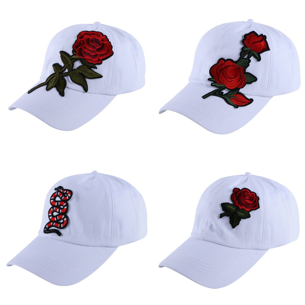 new beauty cute floral brand women girl baseball cap sports caps woman brand snapback hats high quality embroidery white caps