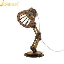 Новый Творческий Старинные Деревянные Настольная Лампа E27 Лампа LED Лампа Для Чтения свет Настольной Лампы Светодиодные Лампы Освещения Для Гостиной Спальня исследование