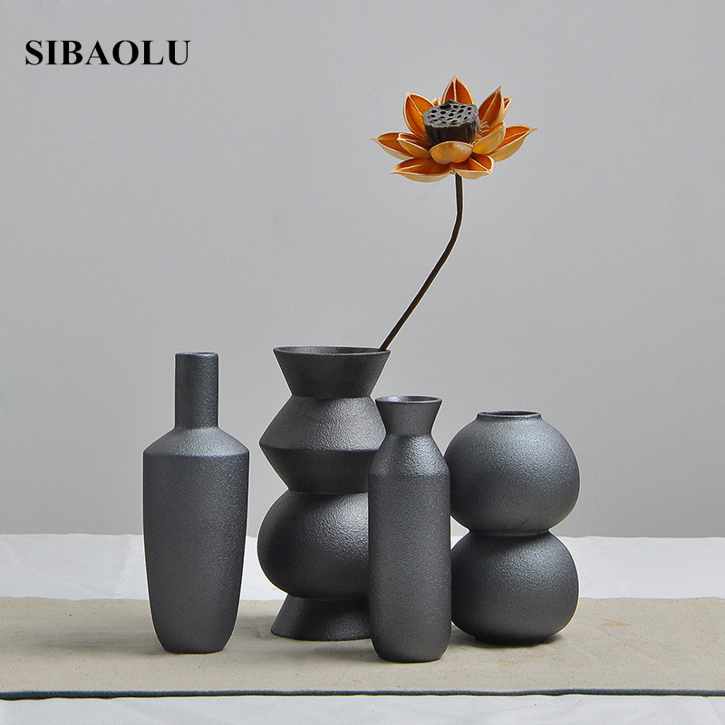 Fashion Matte Ceramic Flower Vase Wedding Decoration Creative