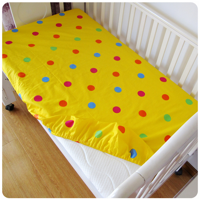 1pc Mattress cover cotton baby bed fitted sheet for baby girls boys crib bed sheet 120*70cm