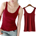 WANAYOU Women Sexy Soft Tank Tops,5 Colors Solid Sleeveless U Croptops,Hot Camisole Vest Top Cropped For Ladies
