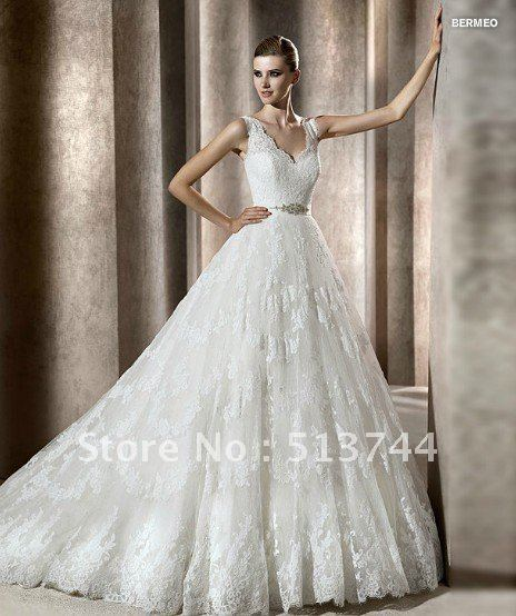 Le White Ivory Over Lace Wedding Dress Custom Any Color Size