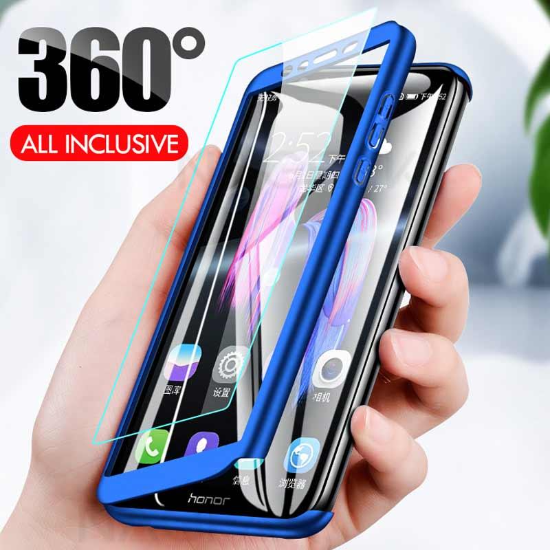 Роскошный 360 Полный чехол для телефона на Huawei Honor 9 9 Lite 8X Max 7A 7C Pro Закаленное стекло Защитная крышка 7A 9 Lite чехол