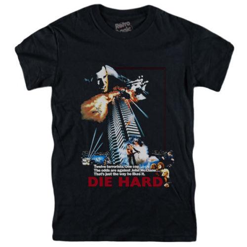 DIE HARD T-Shirt poster del film-Bruce Willis 1988 figura, vintage, vhs, dvd