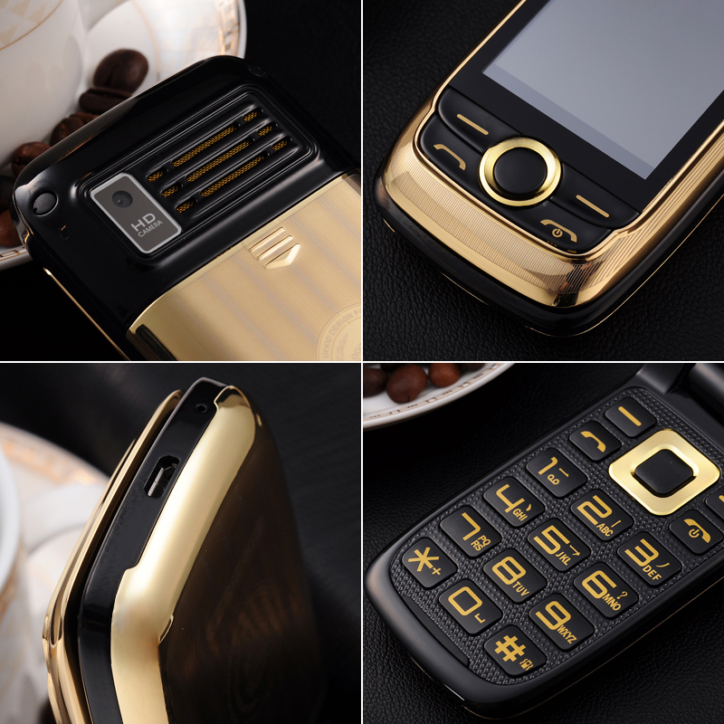 Phones & Telecomm. ... Mobile Phones ... 32790151780 ... 4 ... BLT V998 Two Display Senior Mobile Phone Vibration Touch Screen Blacklist Quick Dial FM Bluetooth Game Large Keyboard Metal Case ...