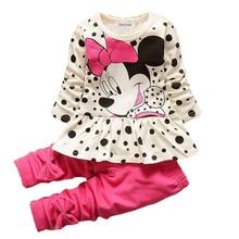 Boys & Girls Cotton Spring Autumn sport suit Kids Clothing set Kids Casual clothes baby boys & Girls dot print set