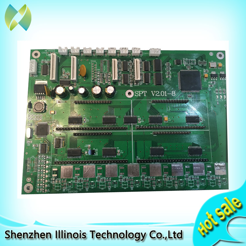 Zhongye carriage board 8h print head board for seiko 510 printer parts wit color 3312 3316 carriage control board printer parts