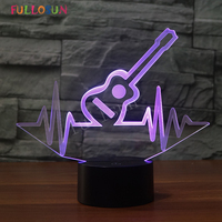 Creative USB Guitar Lights 3D Table Lamp Touch Control Decorative Lighting Cool Atmosphere LED Night Lights