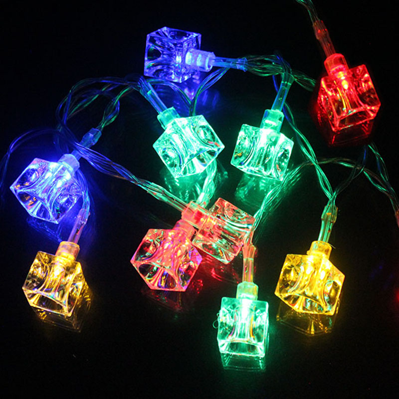 10LEDs Ice Cube Led Christmas Lights String Outdoor