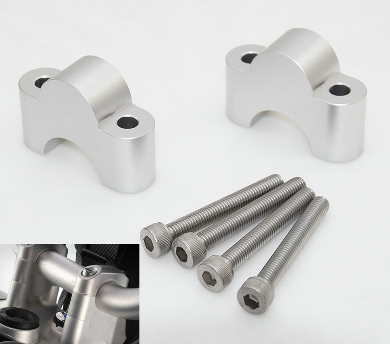Motorcycle Handlebar Risers Height Up Adapters For <font><b>Bmw</b></font> <font><b>R1200GS</b></font> LC GSA <font><b>Adventure</b></font> S1000XR <font><b>2013</b></font> 2014 2015 2016 2017 <font><b>2018</b></font> 2019 image