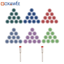 GOXAWEE 10pcs Abrasive Brush Rotary Tools For Dremel Accessories Abrasive Tools with 2pcs 3.0mm Mandrels Power Tools Accessories