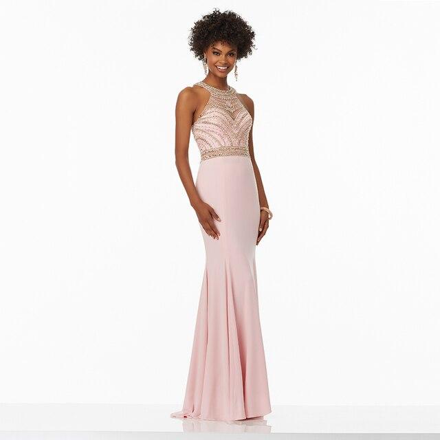 44b7be3aad95 Elegante Pageant Abiti di Chiffon Lungo Blush Pink Abiti Da Sera Della  Sirena Convenzionale Del Vestito