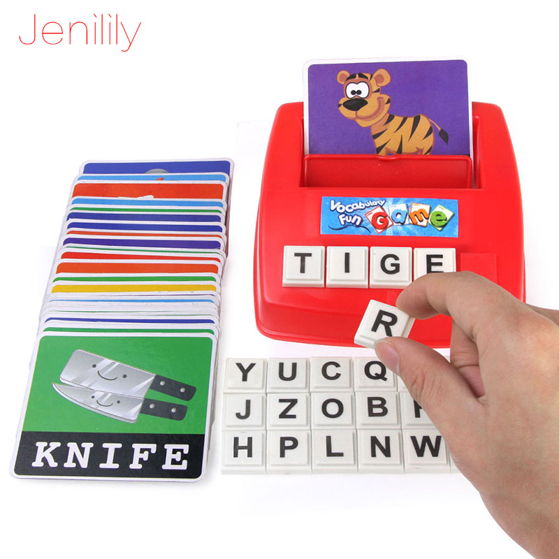 Toys For Children Alphabet Letters Figure Spelling Games Cards English Word Puzzle Educational Literacy Fun Early Learning Toys