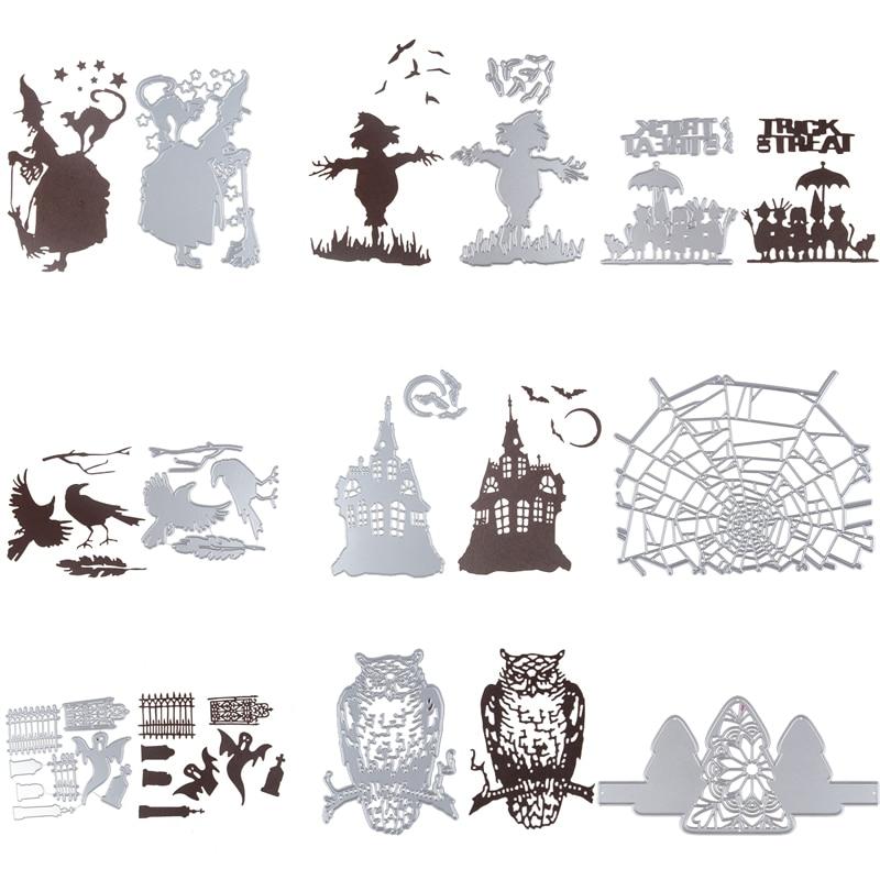 Август Новое Дизайн праздника Хэллоуин горячие трафарет металлический Штанцевые формы с практике руки-на DIY Скрапбукинг альбом ремесло умирает инструмент