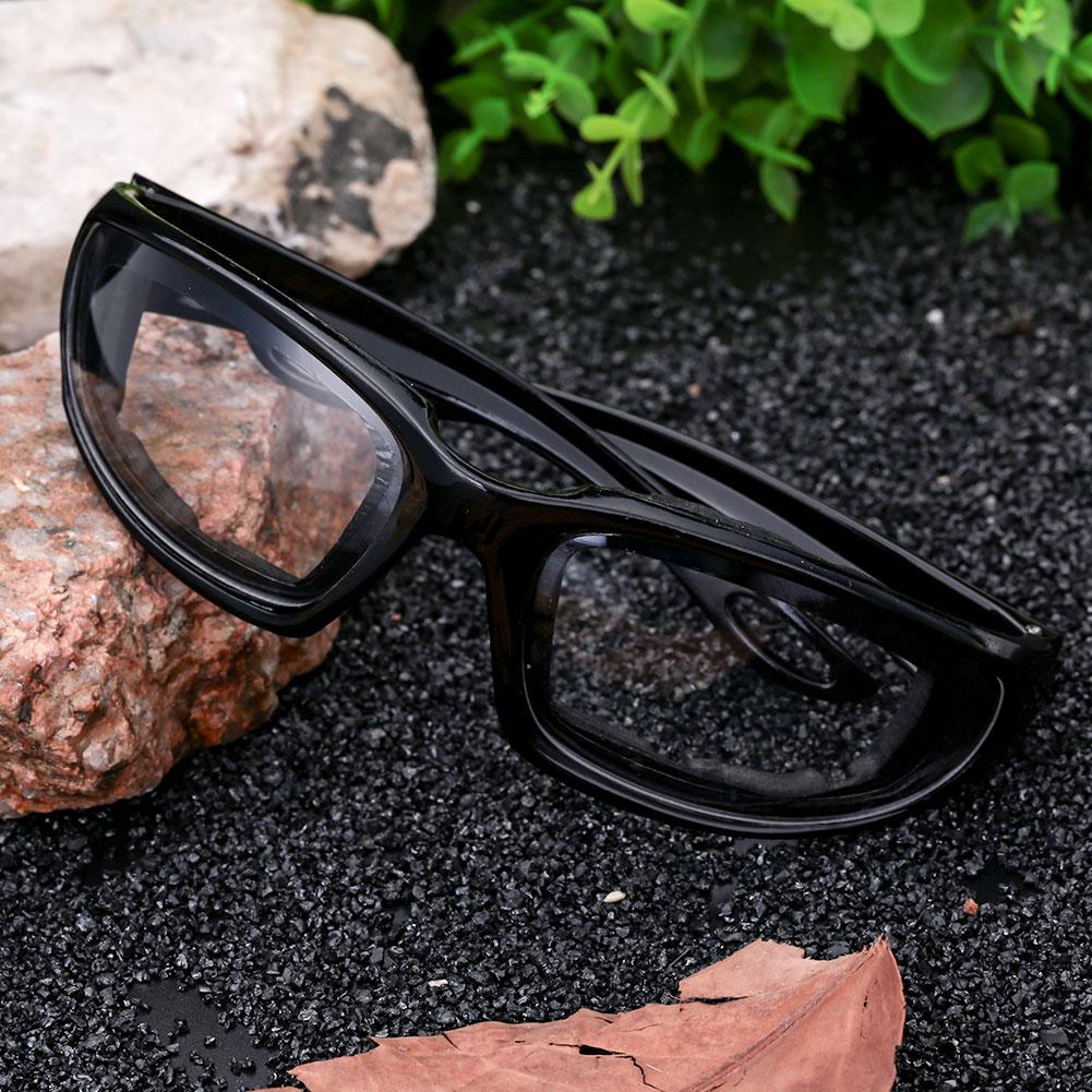 Очки для вождения ветрозащитные солнцезащитные очки Экстремальные спортивные мотоциклетные защитные очки для вождения для мужчин или женщин - Цвет: black frame flat len