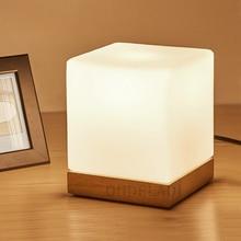 خشبية الحديثة مصابيح طاولة توفيرية لغرفة المعيشة غرفة نوم bedside مقهى دي المنزل أضواء الديكور تركيبات الزجاج غطاء مصباح الإنارة