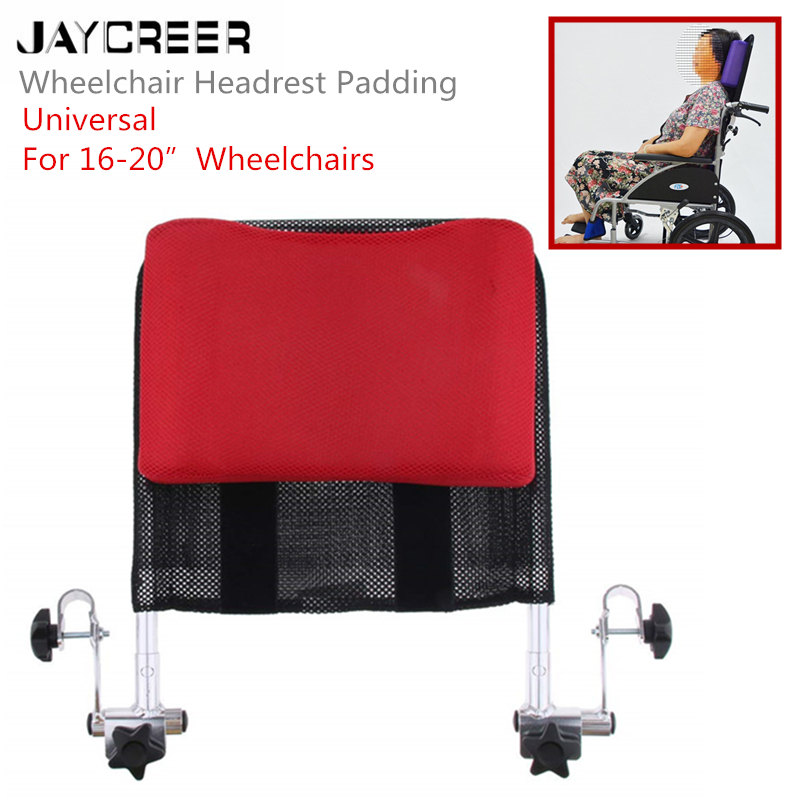 JayCreer Wheelchair Headrest Neck Support Comfortable Seat Back Cushion Pillow Adjustable Padding for Adults Portable Universal