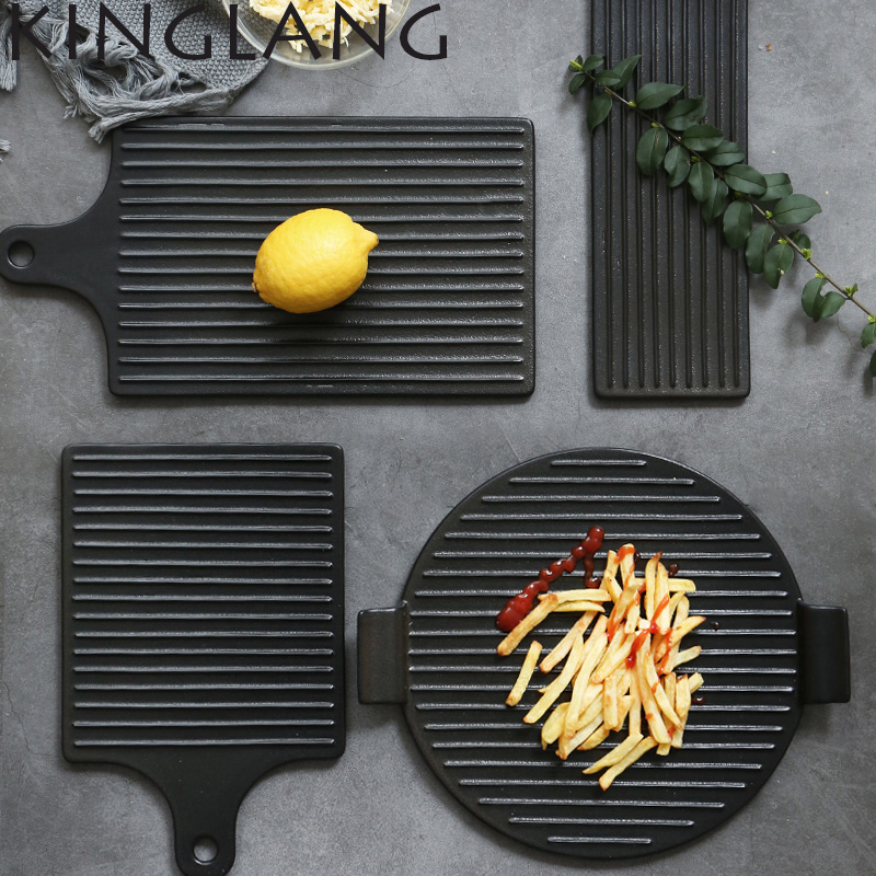 1 pcs baking ceramic Bread Pizza board creative baking tray cutting board beef steak pastry plate ...
