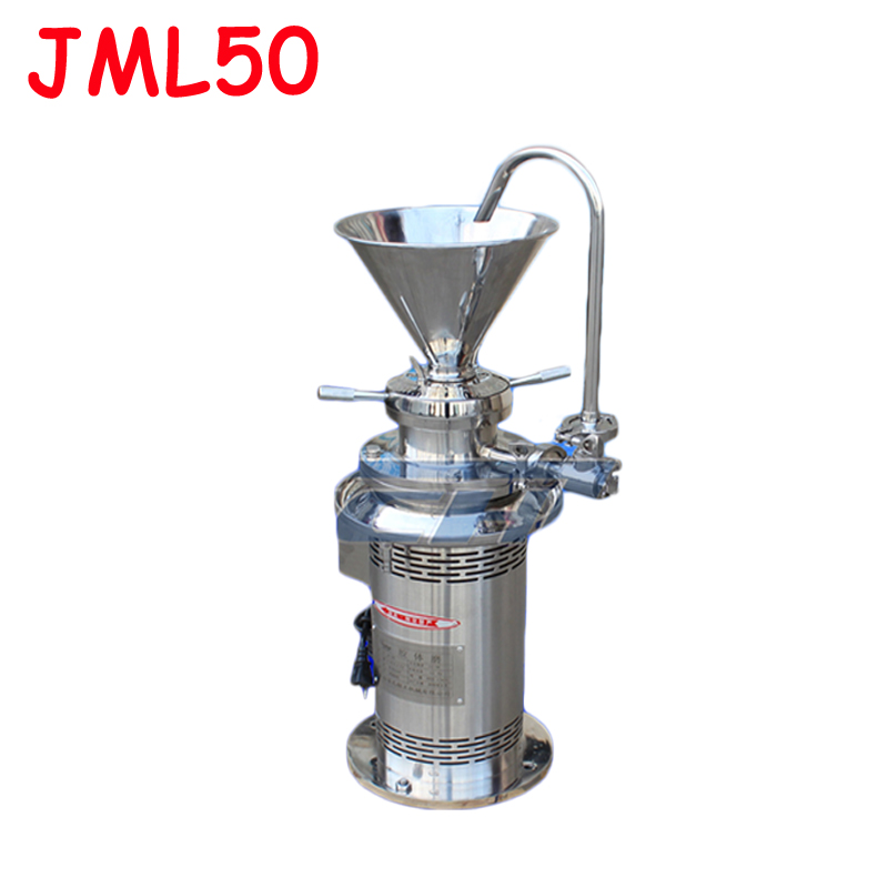 JML50 Colloid mill sesame colloid mill peanut butter colloid mill soybean grinding machine coating grinding machine 220v 1pc mini dry wet eletric stone grain mill sesame butter machine peanut butter machine corn crusher stone mill soymilk