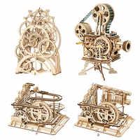 Robotime DIY 3d holz puzzle spiel montage modell baustein spielzeug geschenk für kinder erwachsene drop verschiffen