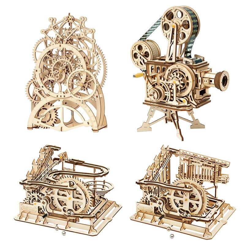 Rokr bricolage 3d en bois puzzle jeu assemblage modèle bloc de construction jouets cadeau pour enfants adulte livraison directe